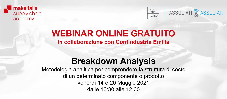 Webinar Breakdown Analysis con Confindustria Emilia