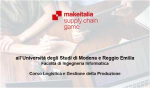 Corso logistica e gestione della produzione